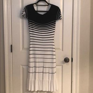 BCBG black and white dress. New with tags.